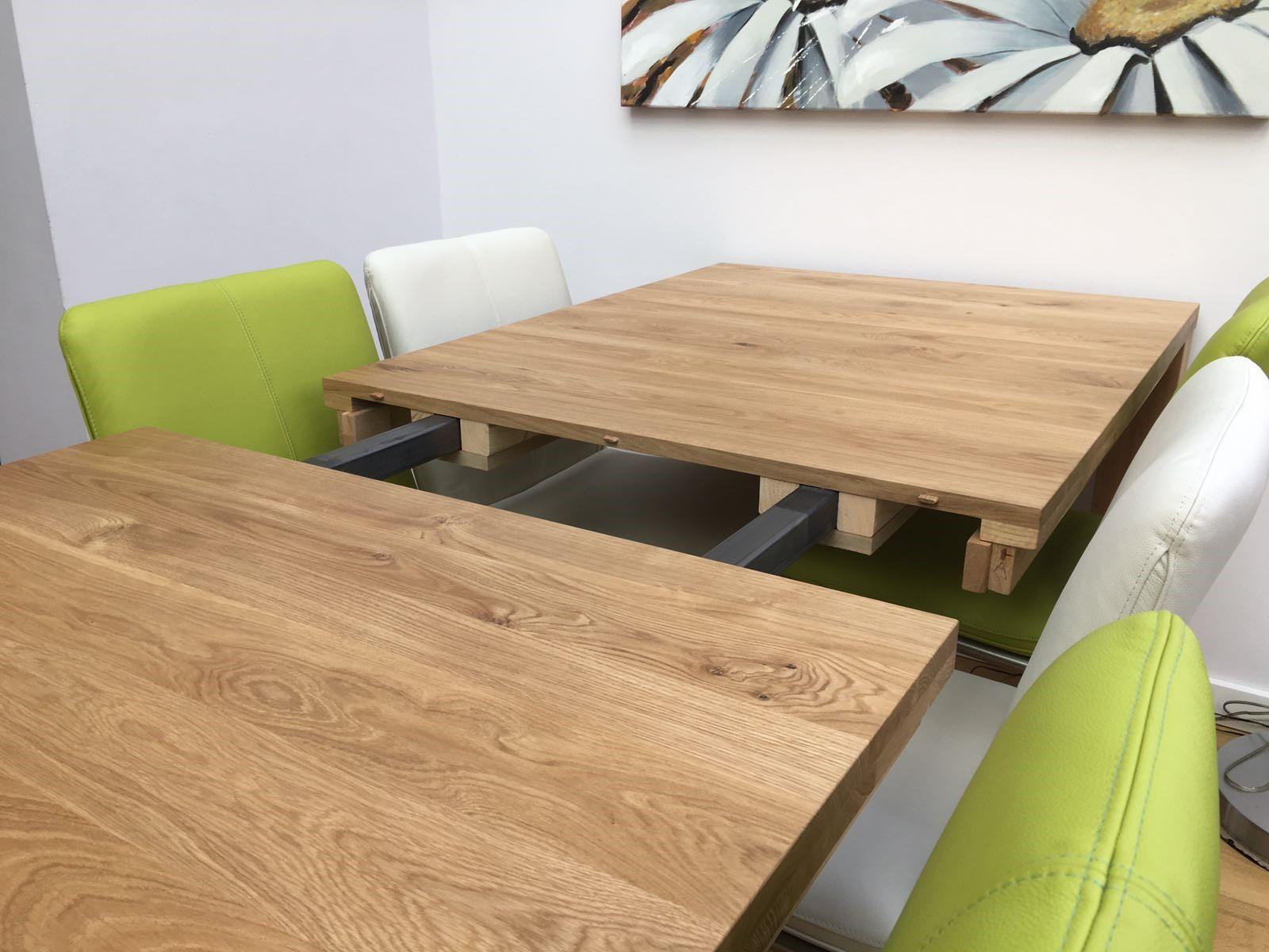 uitschuiftafel hout