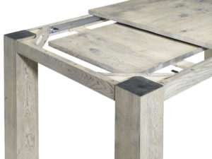 uitschuiftafel van hout JBF schuif Detail