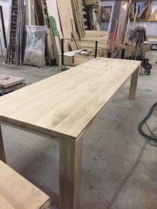 houten uitschuiftafel model MAXIMUS