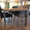 houten uitschuifbare tafel STRETCH RVS