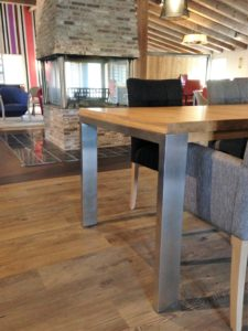 uitschuifbare houten tafel STRETCH RVS