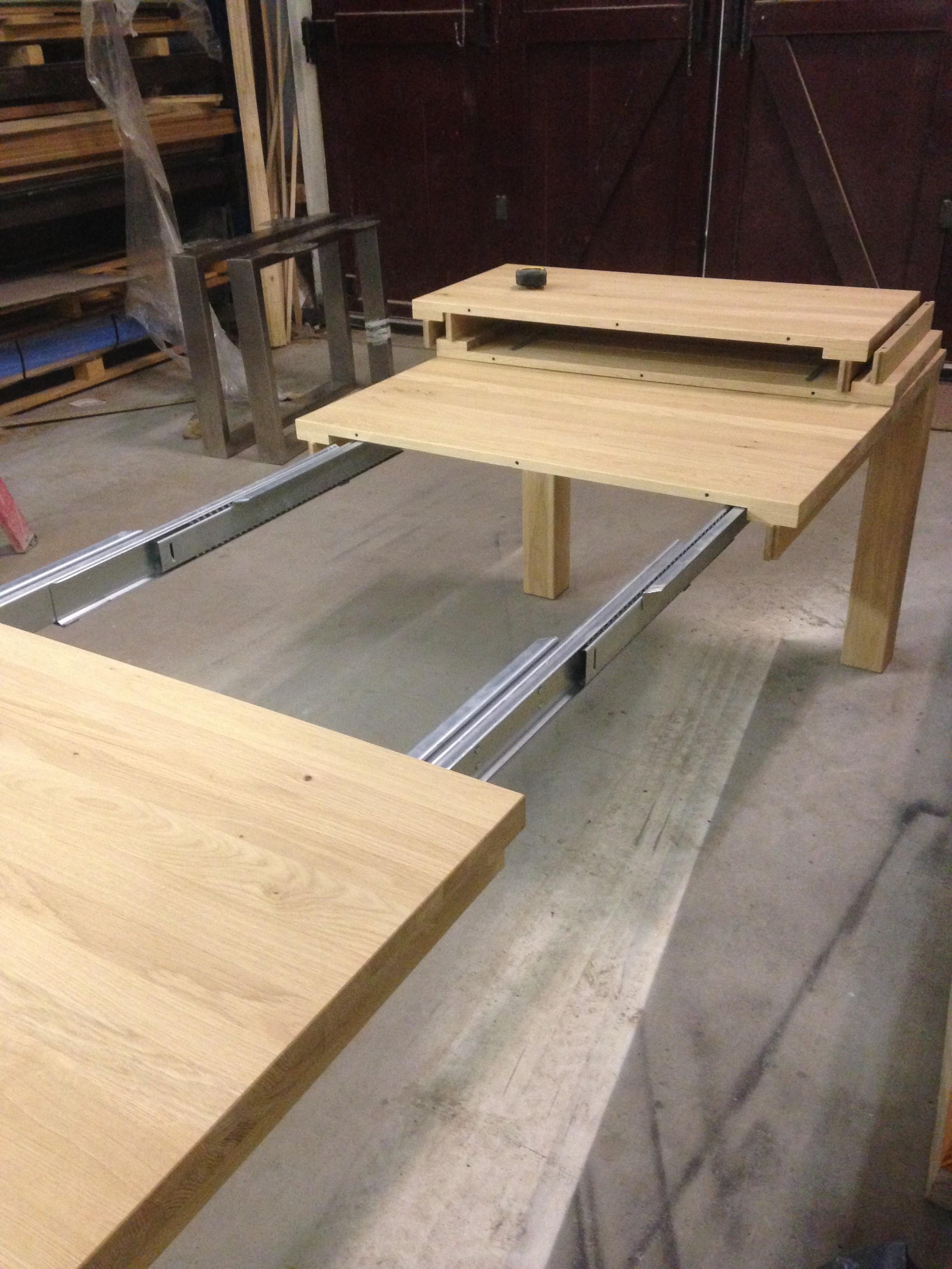 Model stretch rail de houten tafel nl for Uitschuifbare eettafel