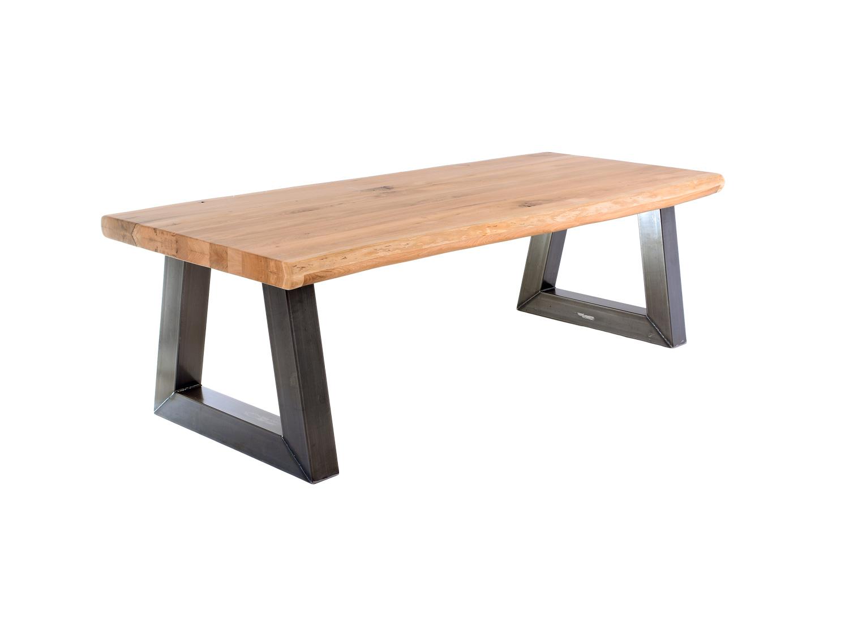 Industriele Tafel Poten : Industriële eettafel maken met stalen tafelpoten voordemakers